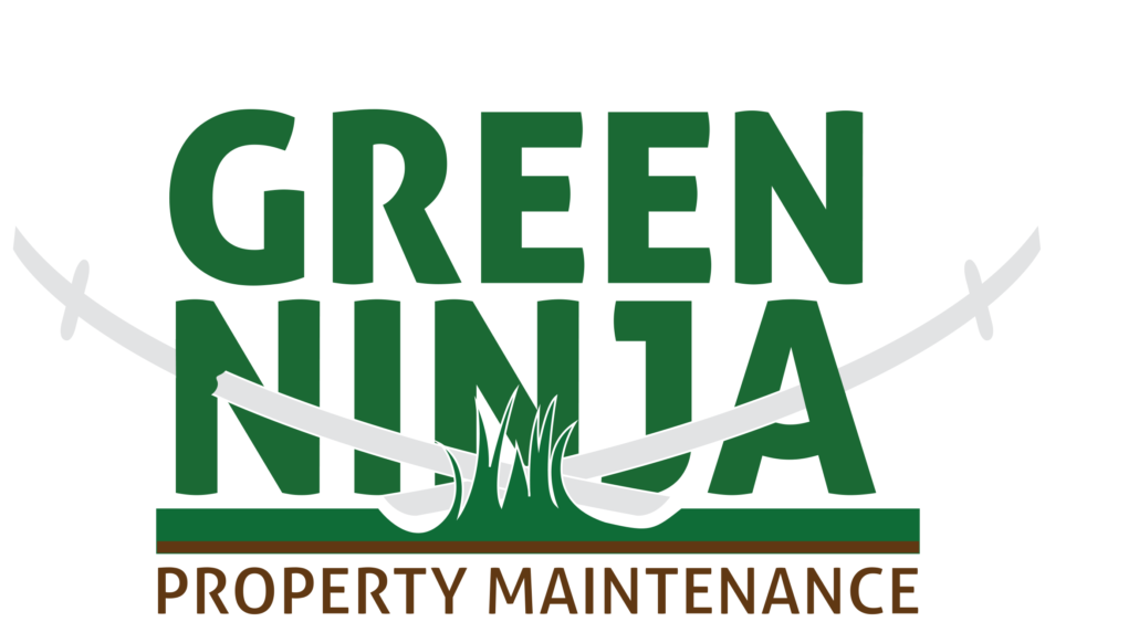 Green Ninja Logo With two silver Swords through the Logo
